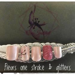 Collection one stroke & glitters